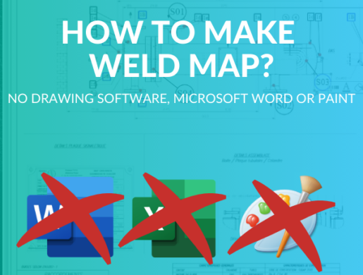 How to identify weld information in a construction drawing using Weld Mapping ? (no drawing software, Microsoft Word or Paint)